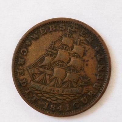 1841 Webster Credit Coin