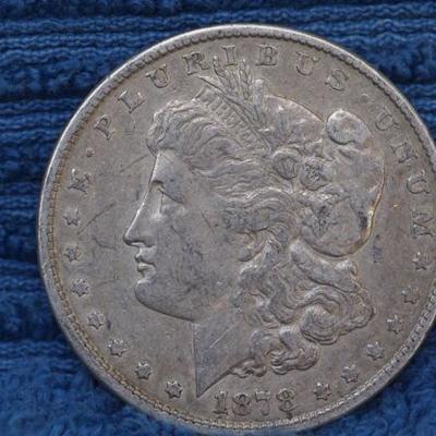 Morgan Silver Dollar 1878 P