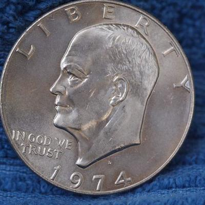 1974 D Ike Silver Dollar Very clean no damage