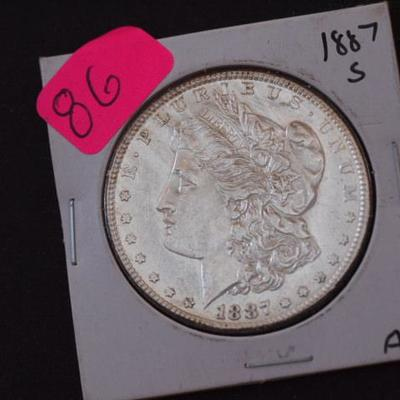1887 S AU type condition Another Beautiful Coin