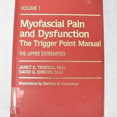4 Hardcover Medical Books: Myofascial Pain -to- Hormones