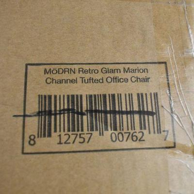 MoDRN Glam Marion Office Chair, Ivory - Chair Discolored, New, Walmart $100