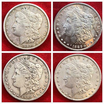 Lot #2- 1890 Morgan Silver Dollar