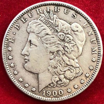 Lot #4- 1900 Morgan Silver Dollar