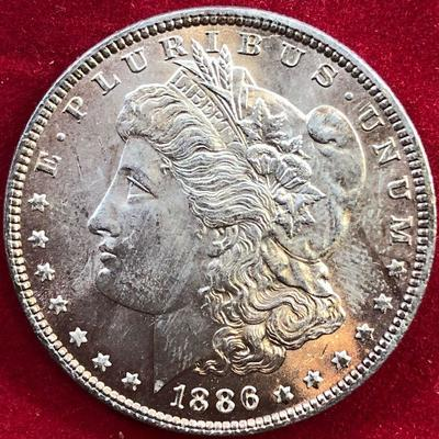 Lot #5- 1886 Morgan Silver Dollar