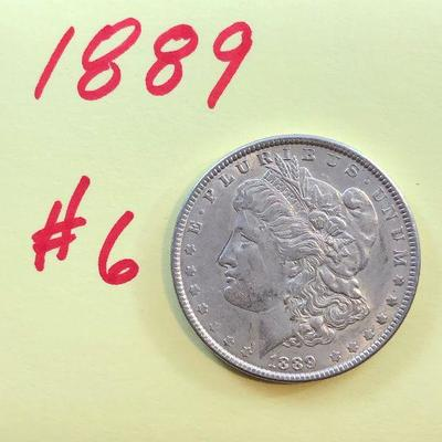 Lot #6- 1889 Morgan Silver Dollar