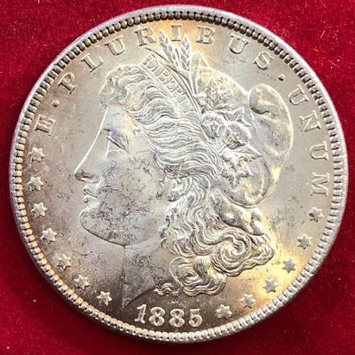Lot #7- 1885 Morgan Silver Dollar