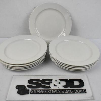 11x Core Dinnerware Plates, Cream, 10.5