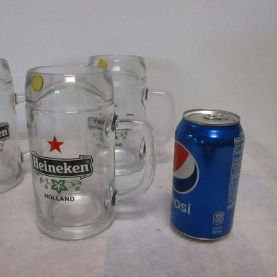Lot 1 - Heineken Beer Mugs