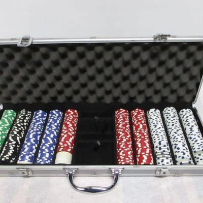 Lot 4 - Metal Case Of Poker Chips