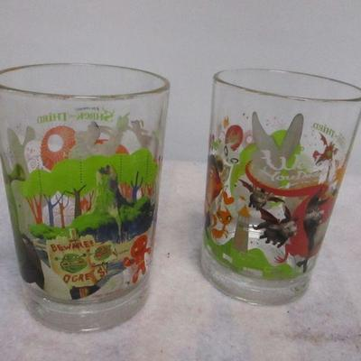 Lot 1 - Collectible McDonald Glasses - Disney