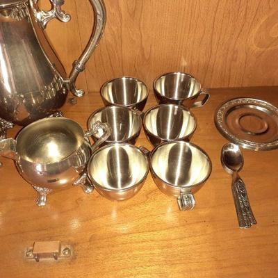 VERY NICE GERMAN SILVER TEA SERVICE