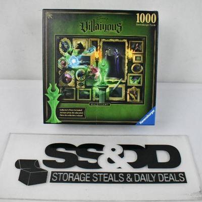 Disney Villainous Puzzle, 1000 Pieces - Complete