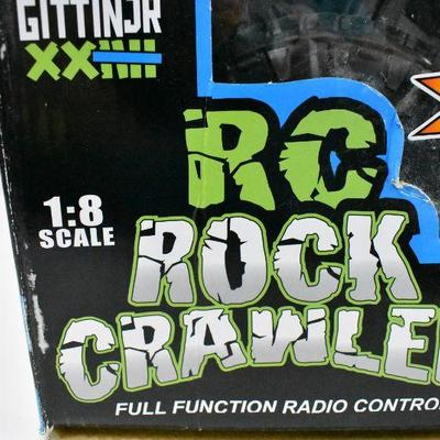Large RC Rock Crawler by New Bright - Front Left Wheel Works in Reverse ONLY