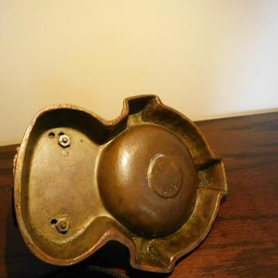 Vintage Brass Native Americana Teepee Ash Tray 6