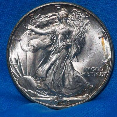 1946 D Uncirculated walking Libert Half       197