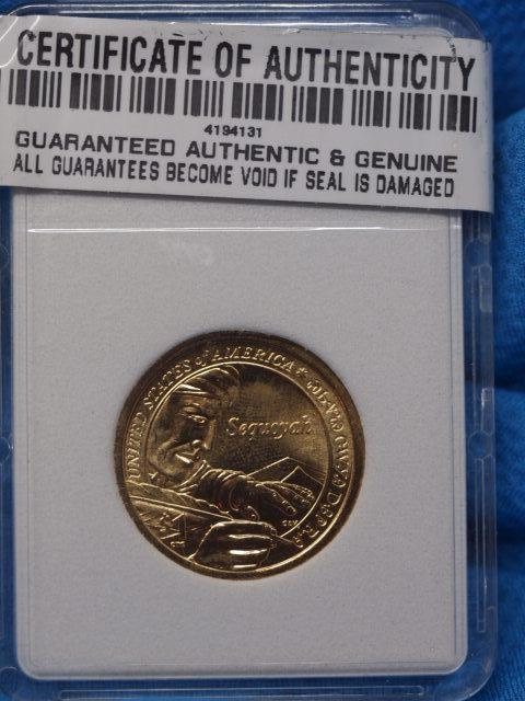 Sequoyah  Golden Proof in Sealed Plastic Protector no Date  inventory 43