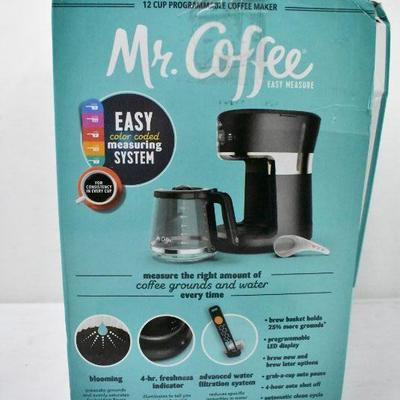 Mr. Coffee 12 Cup Programmable Coffee Maker - New Machine, Missing Pot