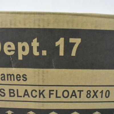 6x Black Float Frames, 8