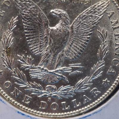 1887 S Morgan Silver Dollar in AU Condition  86