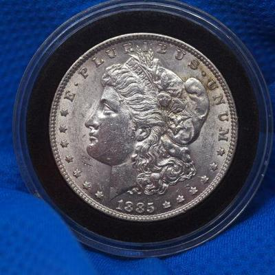 1885 P Morgan Silver Dollar Uncirculated   120