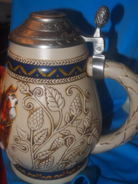 This Stein Depicts the aging and cooperage process of the 17th These Stien's are Handcrafted and the quality of the work shows  152