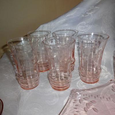lot 1 pink glass