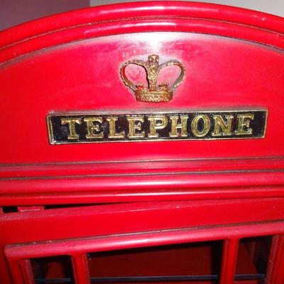 Lot 3. English telephone cabinet