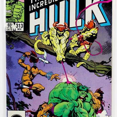 Incredible HULK #313 Alpha Flight Appearance 1985 Marvel Comics VF/NM