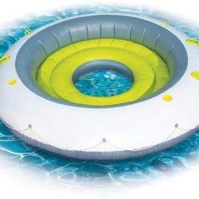Banzai Ultra Luxe Island Inflatable Water Island - $60 Retail, SEE DESCRIPTION