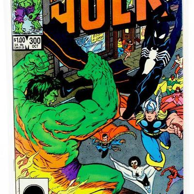 Incredible HULK #300 Avengers Black Costume Spider-Man App 1984 Marvel Comics VF/NM