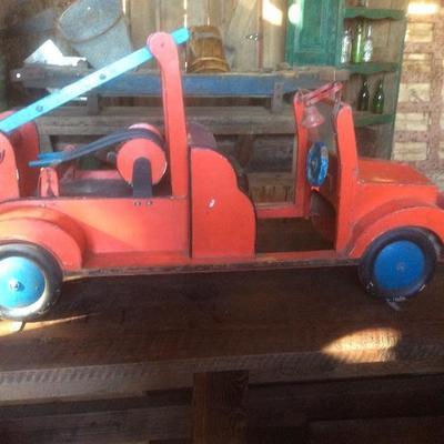 Vintage Carnival Ride Fire Truck