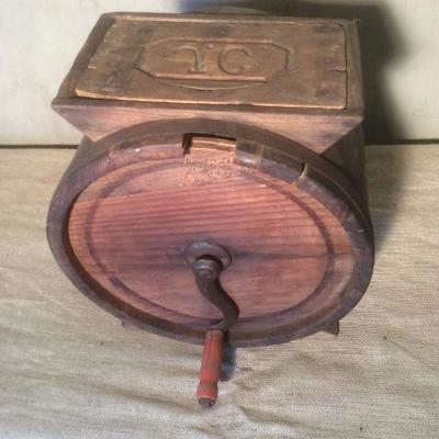 Antique JC Wooden Butter Churn