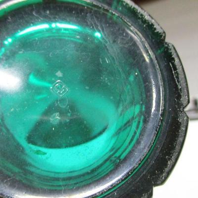 Lot 1 - Anchor Hocking Cobalt Blue & Green Tumbler Glasses