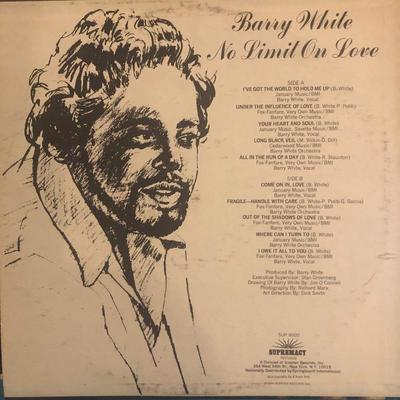 Lot #5 Barry White- No limit on love: SUP-8002