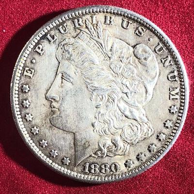 Lot # 1 1880 S Morgan Silver Dollar $1 US Coin