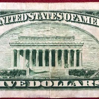 1935 Series A $5 Silver Certificate Blue Seal