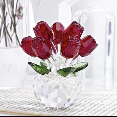 Vintage Glass Rose Centerpiece
