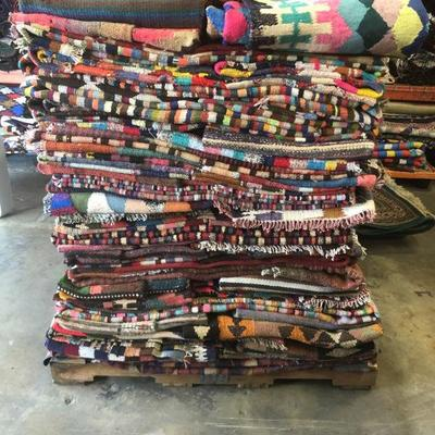 Estate Sale: Everything has to be sold!   Authentic Hand Knotted Persian Kilims Natural Wool & Cotton, Vegetable Dye  Different Sizes &...