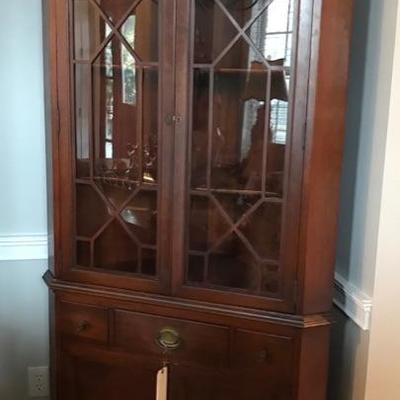 Corner cupboard $325