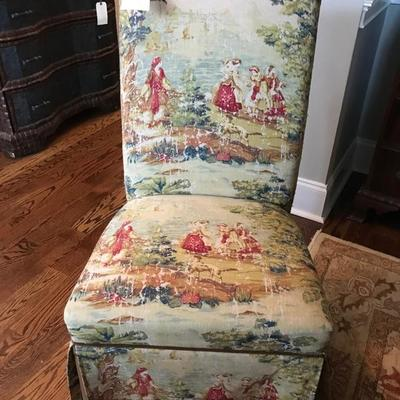 Upholstered chair $80 6 available, 6 for $400