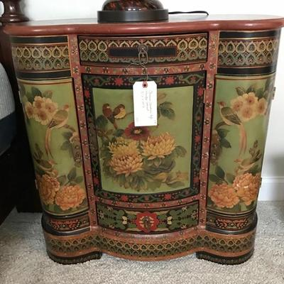 Chinese Cloisonne style painted cabinet $275
