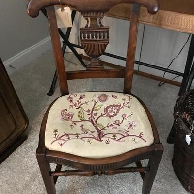 Antique Greek revival mahogany chair $220