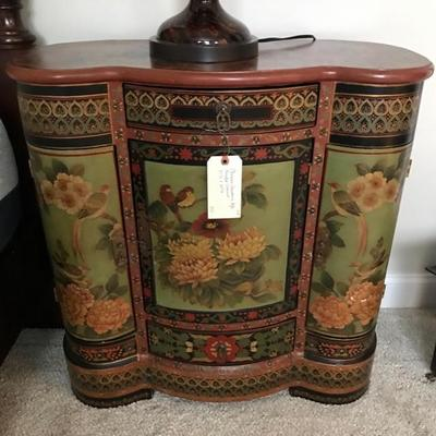Chinese Cloisonne  painted chest $355