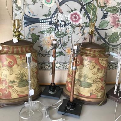 John Richard pair of table lamps $400
