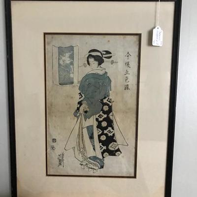 Japanese woodcut print $75