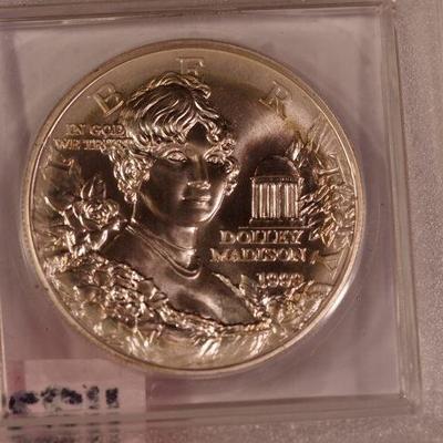 1999- P  Commemorative Dolly Madison $1.00   1123
