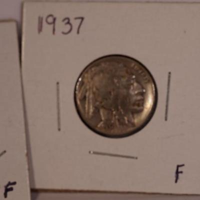 1936 S and 1937 P  Buffalo Nickels     1143