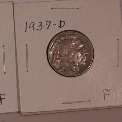 Buffalo Nickles 1937 D and 1936 D   1145