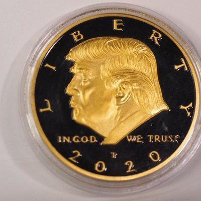 2020 Donald Trump Liberty Colorized Collectible Coin   1042